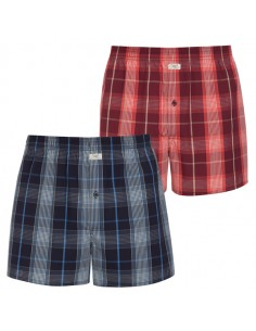 Jockey Boxershort Klassiek 2Pack Blocked Black Red