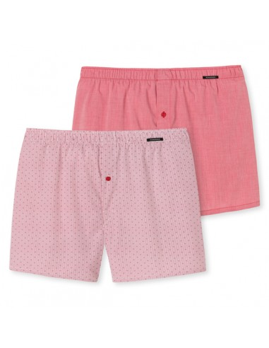 Schiesser Woven Boxershorts 2Pack Redish Kind