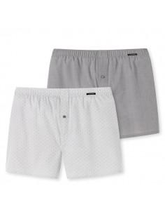 Schiesser Woven Boxershorts 2Pack Grey Kind