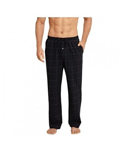 Schiesser Long Pants Lounge Broek Zwarte ruit