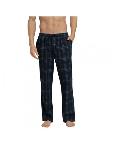 Schiesser Long Pants Lounge Broek Blauwe ruit