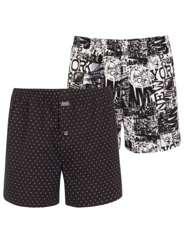 Jockey Boxershort Klassiek 2Pack New York Black