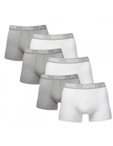 Puma Boxershort 6 pack Wit grijs
