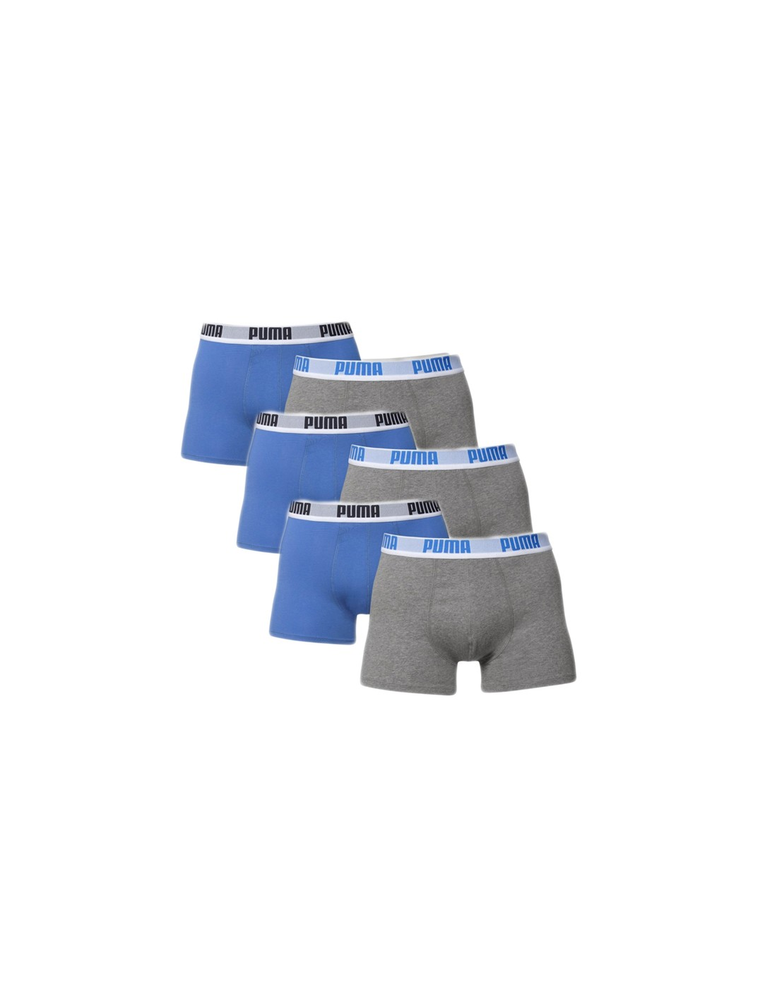 Puma Boxershort 6 Pack Blue Grey