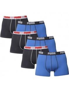 Puma Boxershort 6 pack Blue Dark Grey