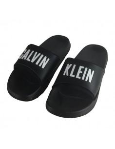 Calvin Klein Slippers Slide Zwart Wit
