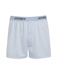 Jockey Boxershort Basic Lightblue stripe