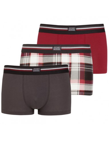 Jockey Boxershorts 3 Classic red Trunk Boxer