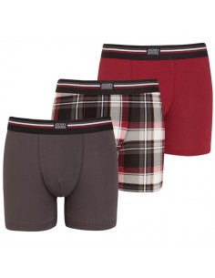 Jockey Boxershorts 3 pack Classic Red long boxershorts