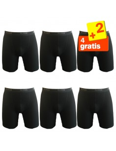 Sloggi Men basic Long Boxershort Zwart 4+2 gratis 6 pack