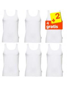 Sloggi basic Hemd White 4 + 2 gratis 6 pack