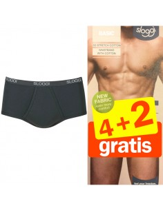 Sloggi Men Basic maxi zwart 4+2 Gratis 6 pack