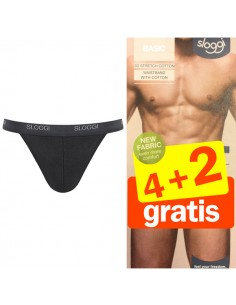Sloggi Men Basic tanga Zwart 4+2 gratis 6 Pack