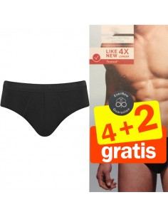 Sloggi Men Midi Evernew zwart 4+2 Gratis 6 pack