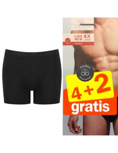 Sloggi Men Short Evernew zwart 4+2 Gratis 6 pack