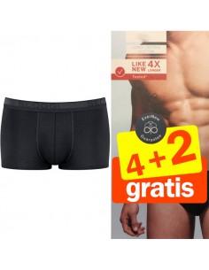 Sloggi Men hipster Evernew zwart 4+2 Gratis 6 pack