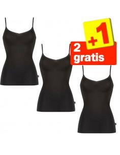 Sloggi Evernew Shirt Hemd Zwart 2+1 Gratis 3 Pack