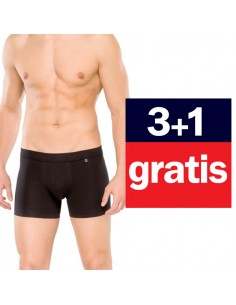 Schiesser Long life Cyclist short 4Pack zwart 3+1 gratis