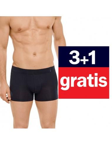 Schiesser Long life soft Modal Shorts 4Pack zwart 3+1 gratis