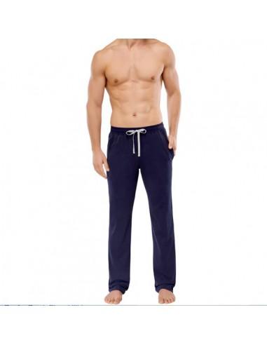 Schiesser Long Pants Lounge Broek Zwart/Navy