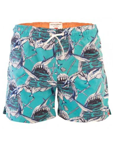 MuchachoMalo Jongens Zwembroek Shark 21 Long Boardshort