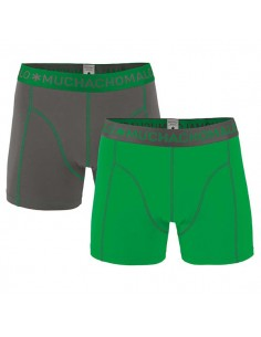 MuchachoMalo Solid 177 Grey Green Duopak Heren Boxershorts