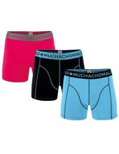 MuchachoMalo Solid 183 Bue Black Red 3Pack Heren Boxershorts
