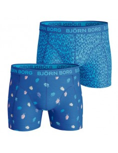 Björn Borg Short 2Pack BB Multi Palm & Ziggi Directoire Blue