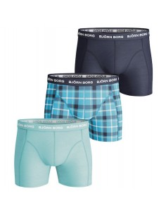 Björn Borg Short BB Check Peacoat 3Pack
