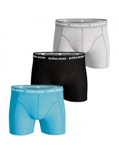 Björn Borg Boxershorts 3Pack Seasonal Solids Aquarius