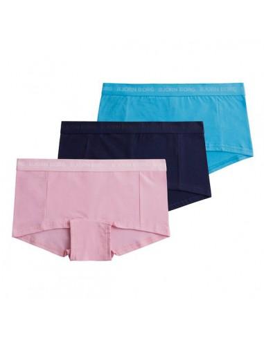 Bjorn Borg Dames Mini Short Seasonal Pink Lady 3Pack