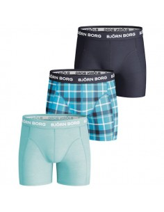 Bjorn Borg 3Pack Boys BB Check Peacoat Boxershorts