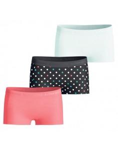 Bjorn Borg Meisjes 3Pack BB Dot Black Mini Shorts