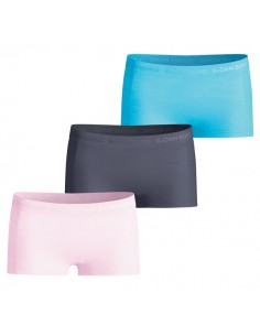 Bjorn Borg Meisjes 3Pack Seasonal Solids Pink Lady Mini Shorts