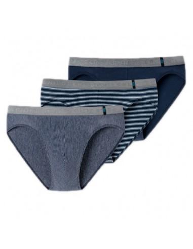 Schiesser Rio Slip 3Pack Blue Stripe 95/5 Slip