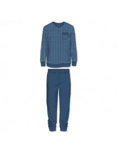 Schiesser Pyjama Set blue print