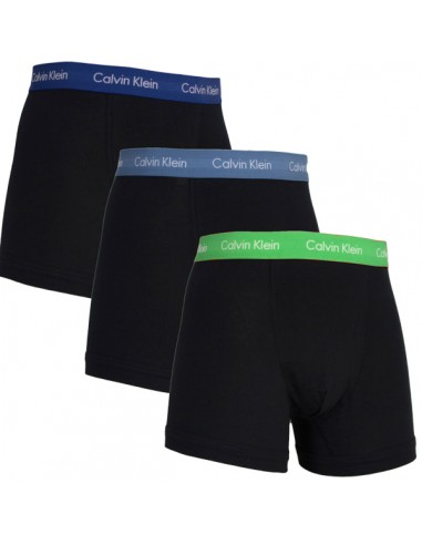 Calvin Klein Ondergoed color mix  3 pack blue green long trunk