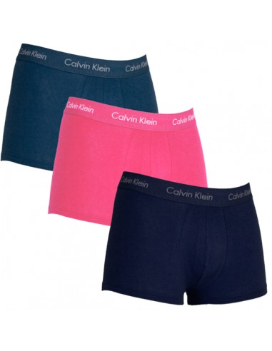 Calvin Klein Ondergoed 3 pack blue blue redish low rise trunk