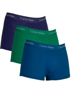 Calvin Klein Ondergoed 3 pack blue blue green low rise trunk