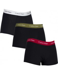Calvin Klein Ondergoed 3 pack red white green low rise trunk