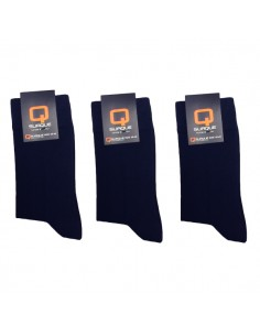 Suaque Heren sokken 3Pack 39-42 Cotton Comfort Navy