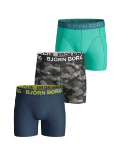 Bjorn Borg 3Pack Boys BB Camoline Black Beauty Peacoat Boxershorts