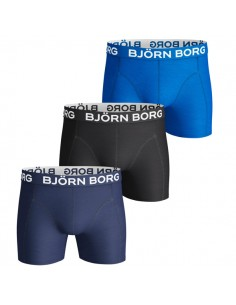 Björn Borg Boxershorts 3Pack Seasonal Solids Blue Depths