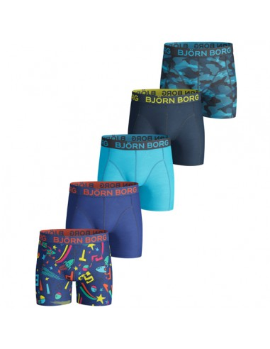 Bjorn Borg 5Pack Boys BB Lost & Camoline Surf the Web Boxershorts