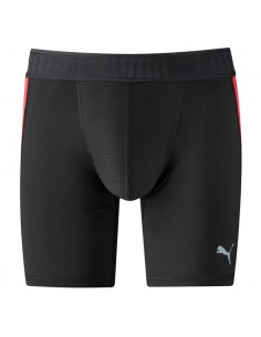 Puma Active Long Boxer Black Red Heren Short