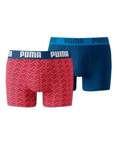 Puma Boxershort 2Pack GRAPHIC PRINT Red / Blue