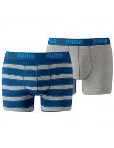 Puma Boxershort 2Pack RUGBY STRIPE Blue