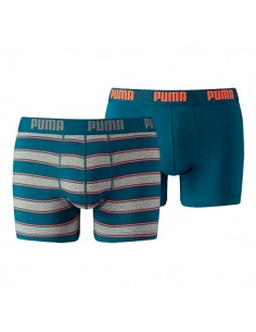 Puma Boxershort 2Pack RUGBY STRIPE Blue / Orange