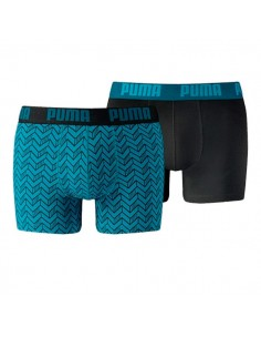 Puma Boxershort 2Pack GRAPHIC PRINT Blue / Black