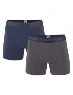 MuchachoMalo 2Pack SOLID 198 Gray Violet Heren Boxershorts